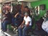 Het is druk bij de kapper