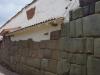 Oude Inka tempels, waarop de stad gebouwd is