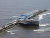 De strekdam is omgetoverd tot pier