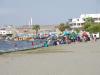 Het strand is vandaag in bezit genomen door de locals