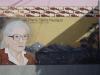 Een muurschildering van Maria Reiche siert de stad