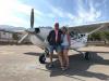 De co-piloot verzamelt smartphones en maakt foto's