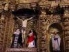 De mooie altaarstukken in La Compañia