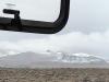We rijden op 4900 meter, hier ligt de eeuwige sneeuw