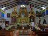 Virgen del Carmen, de kerk staat vol met gladiolen