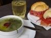 Caldo verde / sandwich com presunto
