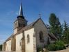 Loye sur Arnon, we lunchen tegenover de kerk