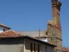 De oude kerk van Hospital de Órbigo, ook hier veel ooievaarsnesten