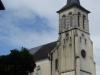 De kerk van Ostabat, de eerste kerk die we tegenkomen met zonnepanelen