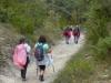 De slier van peregrino's, op weg naar Zubiri