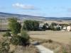Het dal van de Arga mt in de verte de windmolens, daar moeten we heen