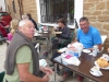 Urbain en Frank uit België, 2 vrolijke mannen die op hun eigen tempo en met heel veel plezier een stuk van de camino lopen