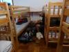 We slapen in het dortoir van Albergue Usda