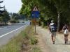 De laatste kilometers zijn langs de bosrand of langs de weg