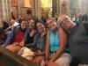 Om 11 uur is de kathedraal al tot aan de nok gevuld met peregrino's