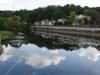 Via een brug over de L'Isle lopen we Mussidan in