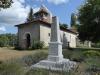 De kerk van Bourriot-Bergonce, waar we om 4 uur worden opgehaald