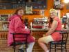 De 2 Duitse vrouwen, met wie we al bijna 14 dagen oplopen, zitten al aan de bar