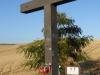 Een kruis, net voor Grañón