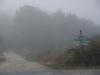 Les Lèches, rond half 10; we zijn bijna een uur onderweg en zijn nog steeds in de wolken