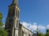 We lunchen bij de kerk van Fraisse; de kerk is gesloten; nog 6,5 km te gaan vandaag