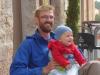 De jongste peregrino die we tot nu toe tegen kwamen, de 7 maanden oude Anto uit Tirol