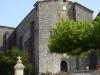 De kerk vam St.Ferme; achter de kerk is een klooster
