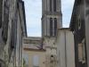 De kerk van La Réole, waar we om 4 uur worden opgehaald