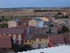 Het uizicht vanuit onze kamer in Astorga, het is half 8