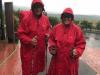 Onze speciale peregrino regenjassen, vorig jaar gekocht in St.-Jean-Pied-de-Port, komen vandaag voor het eerst tevoorschijn