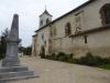 De kerk van Sault-de-Navailles, waar we uiteindelijk onze etappen van vandaag beginnen