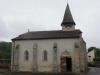 Kerk van Chamborand, hier vinden we een droog plekje om te lunchen