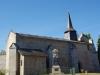 De kerk van Arrènes, het is 10:04, we hebben een goed tempo te pakken