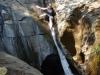 De kleine waterval, die een natuurlijke wildwaterglijbaan blijkt te zijn