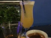 Een cocktail en koffie met cognac, proost