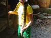 Volgende attractie: op de foto met een python