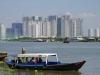 Skyline Saigon City, veel nieuwbouw; zou het ooit allemaal afgebouwd worden?