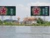 Saigon River; heerlijk helder ..... en een sterke stroming
